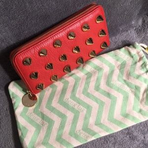 Deux Lux Red Spiked Wallet 💋